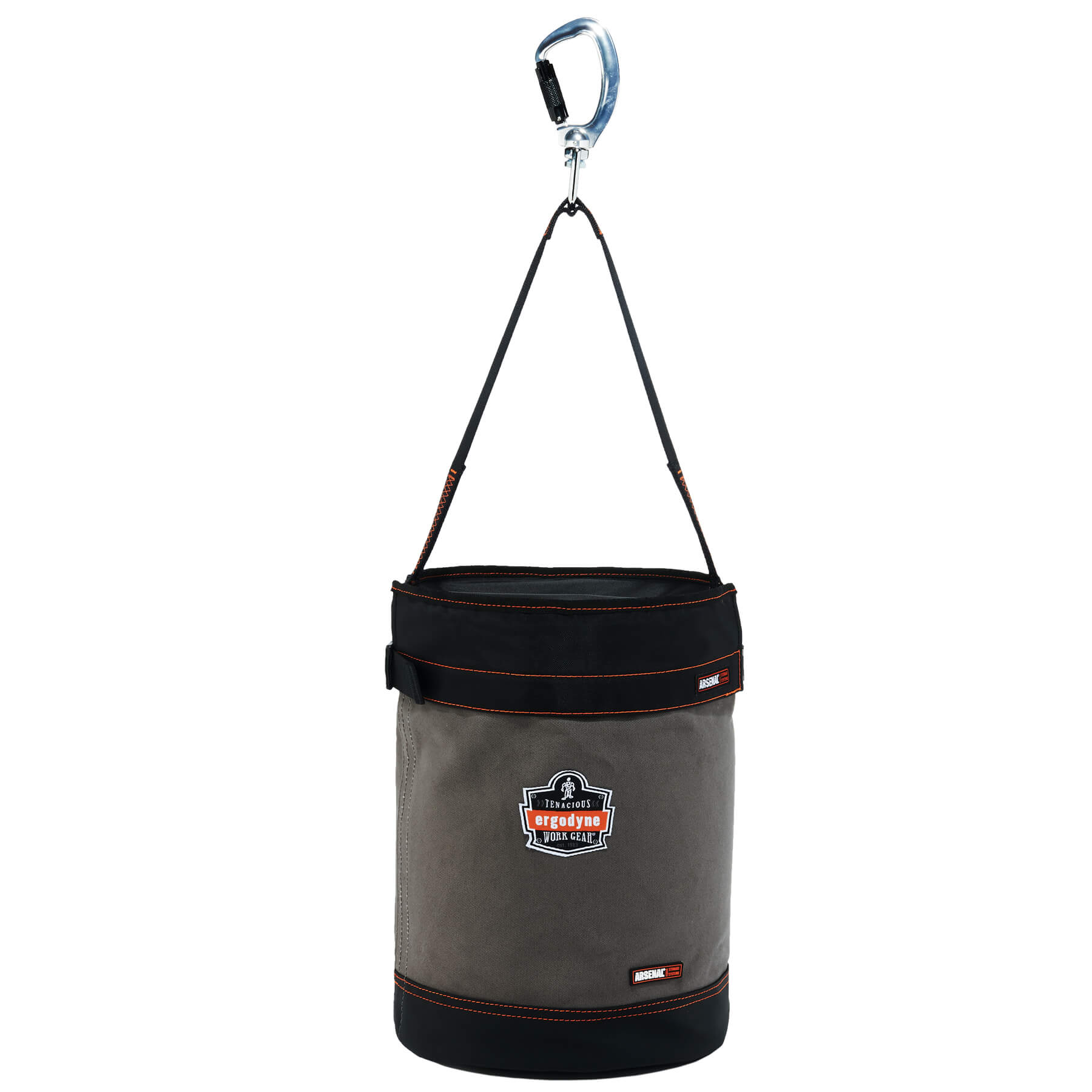 Arsenal 5940T Swiveling Carabiner Canvas Hoist Bucket with Top