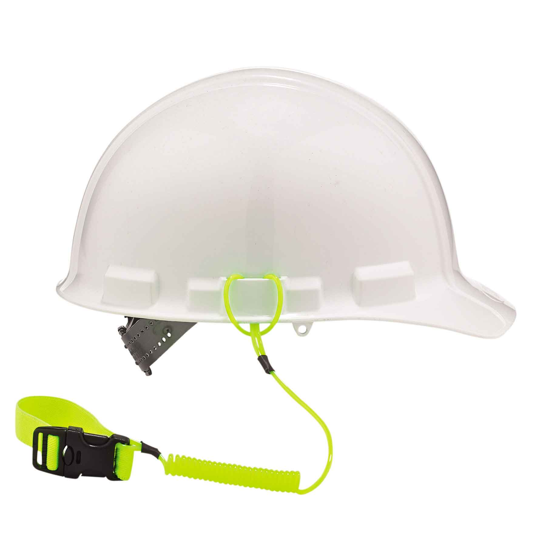 3157 Coil Hard Hat Lanyard with Buckle