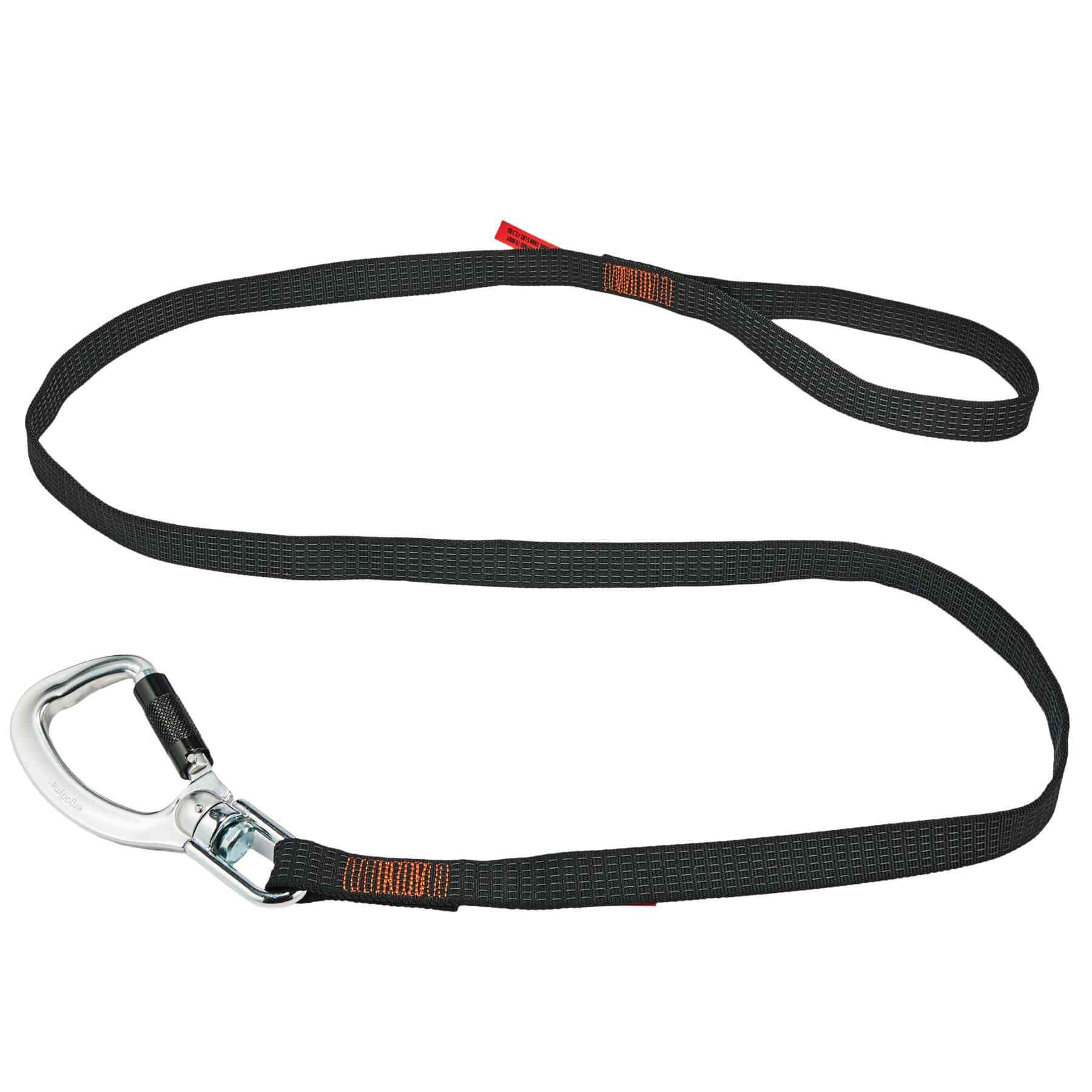 Squids 3129 Tool Lanyard Double-Locking Single Carabiner with Swivel - 40lbs