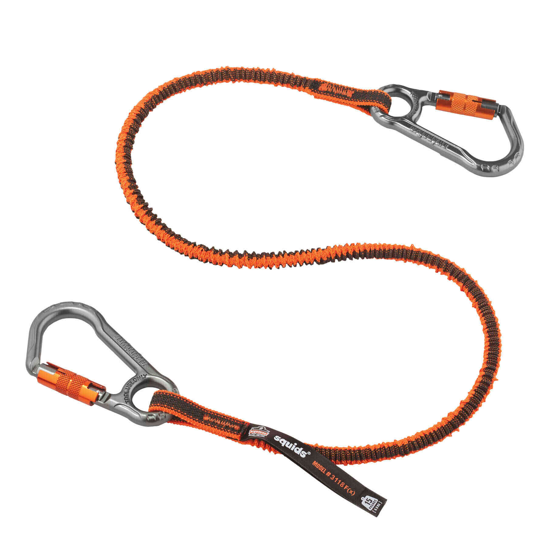 Squids® 3118F(x) Tool Lanyard Dual Locking Carabiner - 15lbs