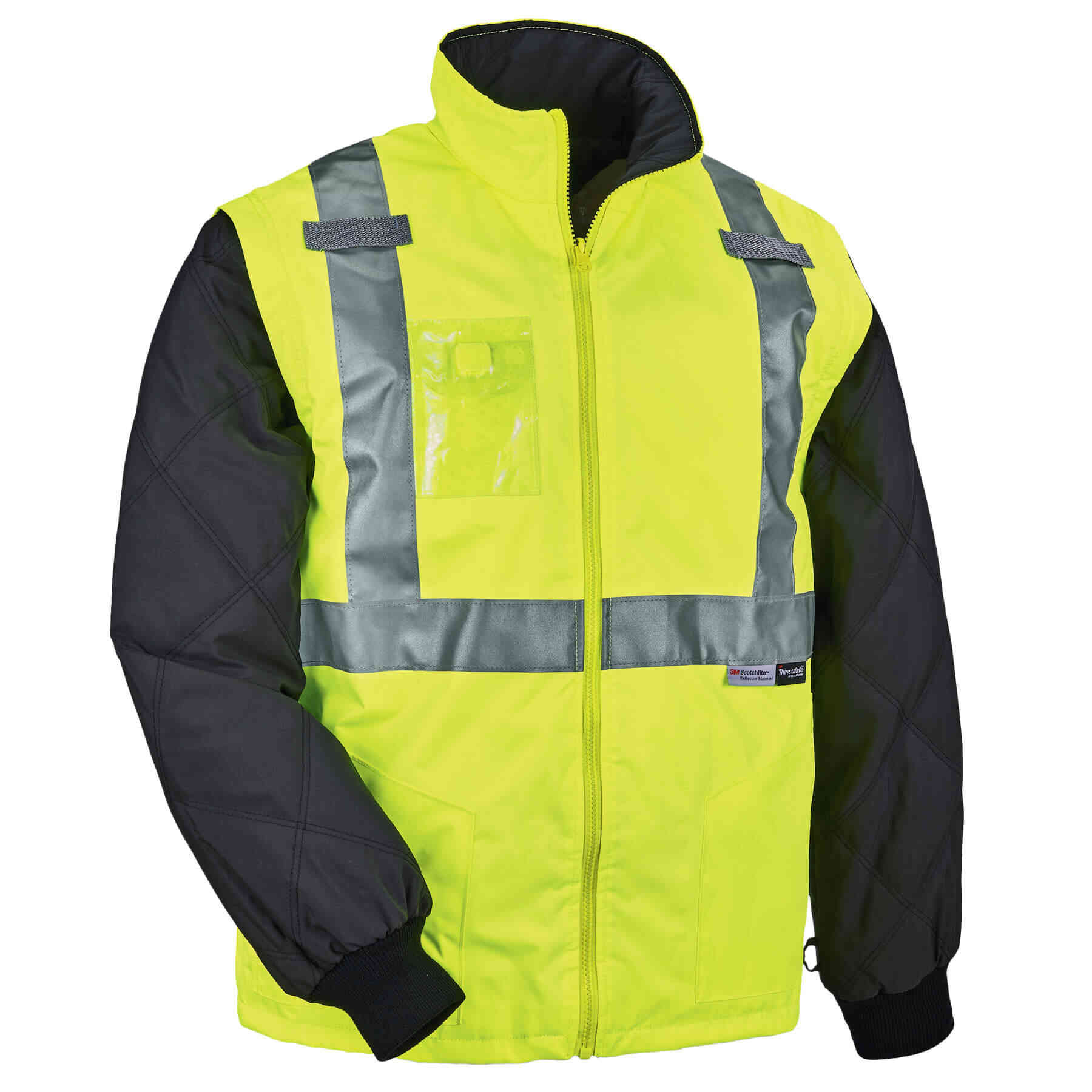 Convertible Thermal Hi Vis Safety Jacket Type R Class 2 Ergodyne