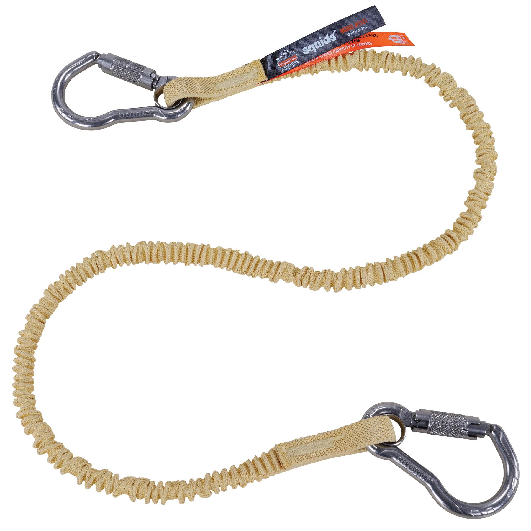 Squids 3121 Burn + Cut-Resistant Aramid Tool Lanyard - Dual Carabiners 10lbs // 4.5kg
