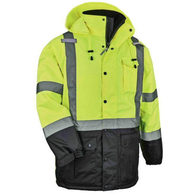 Hi Vis Winter Jacket Thermal Parka Type R Class 3 Ergodyne