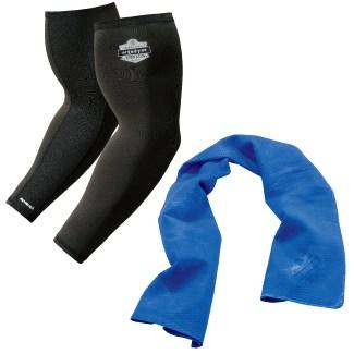 evaporative cooling sleeves and cooling towel