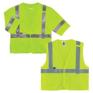 lime class 2 and class 3 FR vests