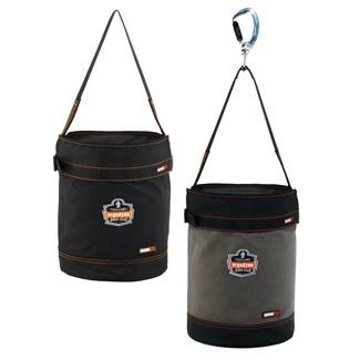 two hoist buckets