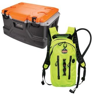 cooler and hydration backpack