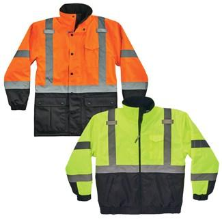 orange and lime jackets
