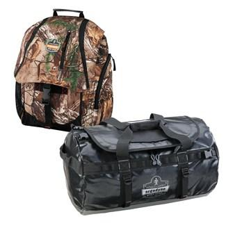 realtree backpack and water-resistant duffel bag