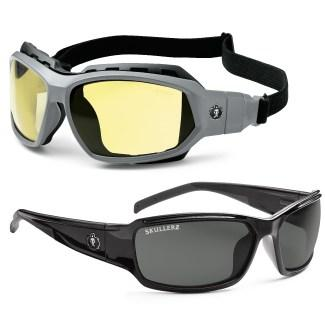 two pairs of safety glasses