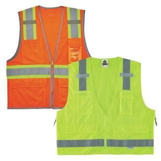 orange and lime class 2 vests