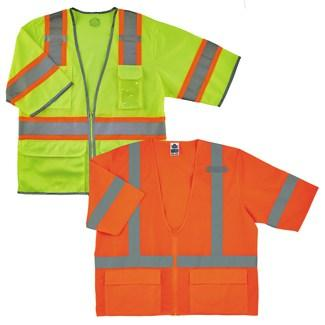 lime and orange class 3 vests