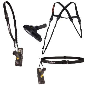 Three barcode scanner harnesses