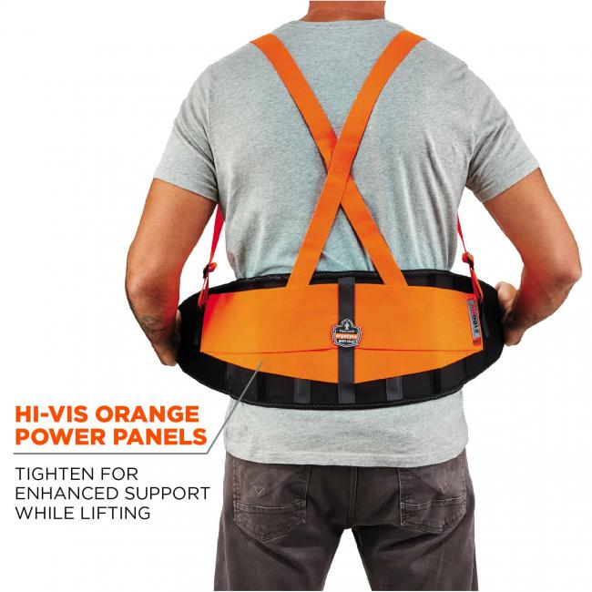 100HV XS Orange Economy Hi-Vis Back Support image 5