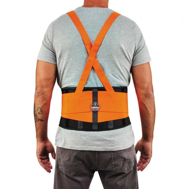 100HV XS Orange Economy Hi-Vis Back Support image 3