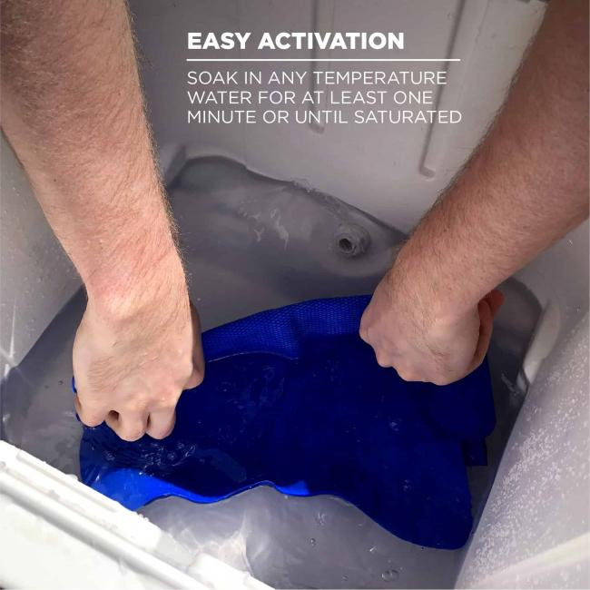 Easy Activation: Soak in any temperature water for at least one minute or until saturated