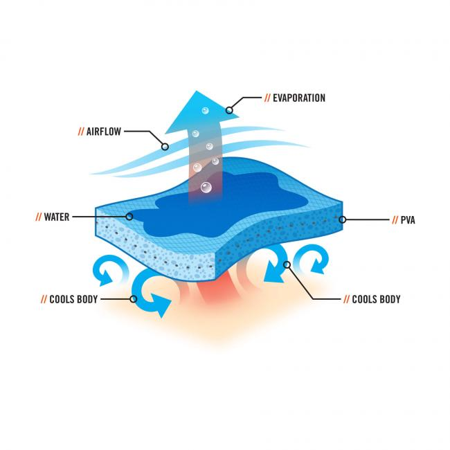 6603  Blue Evaporative Cooling Band cooling-towel image 3