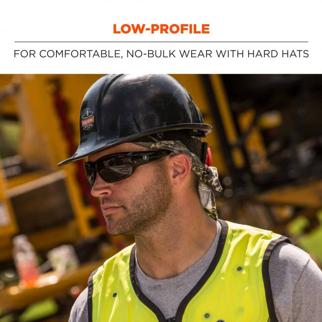Low-profile: for comfortable no-bulk wear with hard hats