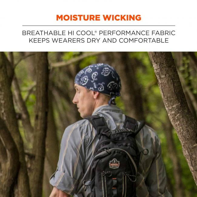 Moisture wicking: breathable hi cool performance fabric keeps wearers dry and comfortable.