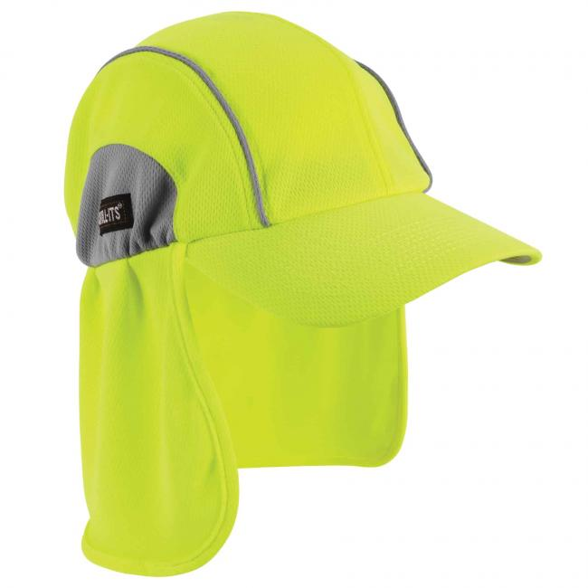 6650 Lime High Performance Hat w/ Neck Shade image 1