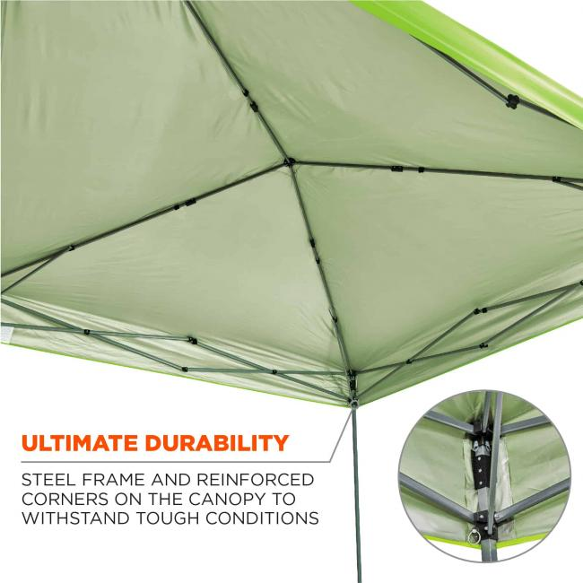 Ultimate durability: steel frame and reinforced corners on the canopy to withstand tough conditions
