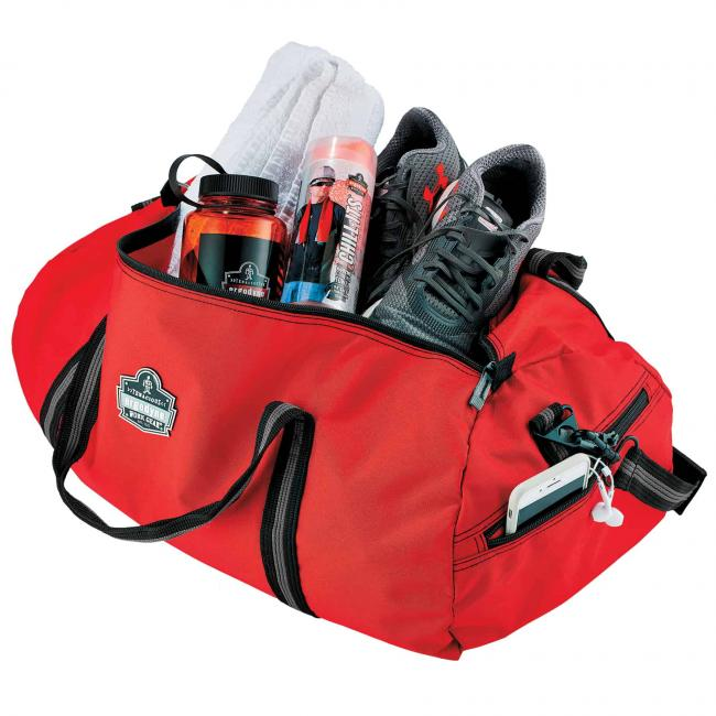 5020 S Red Nylon Gear Duffel Bag image 2