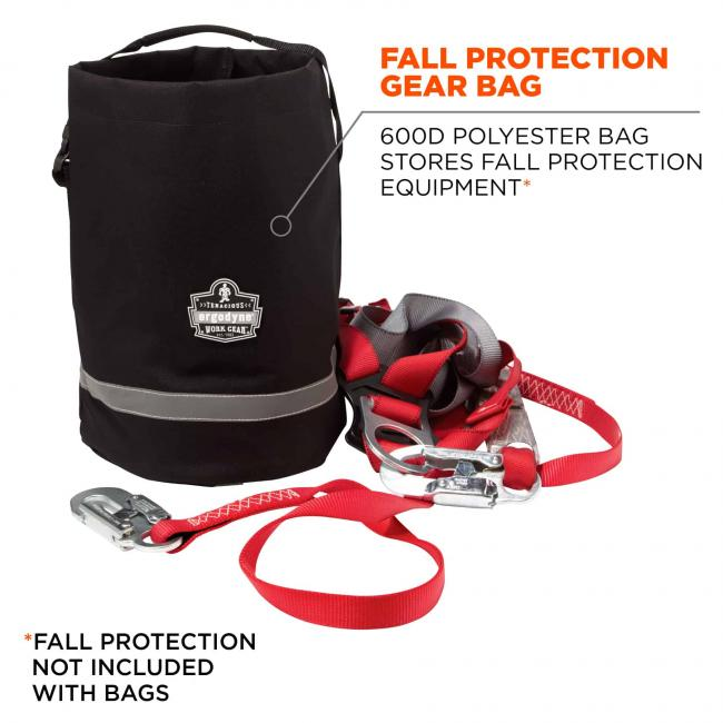 fall protection gear bag: 600d polyester bag stores fall protection equipment. Fall protection not included with bags image 2