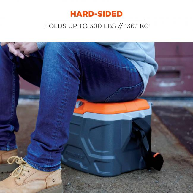 hard-sided: holds up to 300 lbs // 136.1 kg image 4