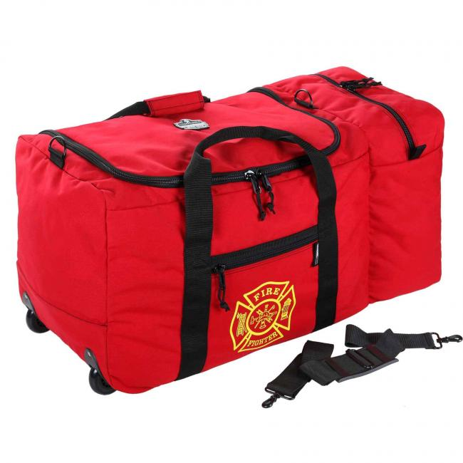 GB5005W 7160ci Red Wheeled F&R Gear Bag Fire and Rescue Gear Bags image 1