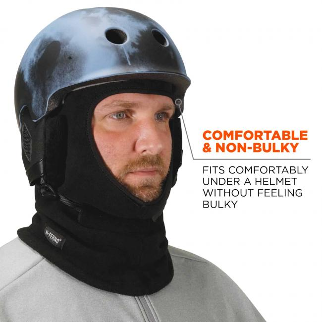 Comfortable & non-bulky: fits comfortably under a helmet without feeling bulky