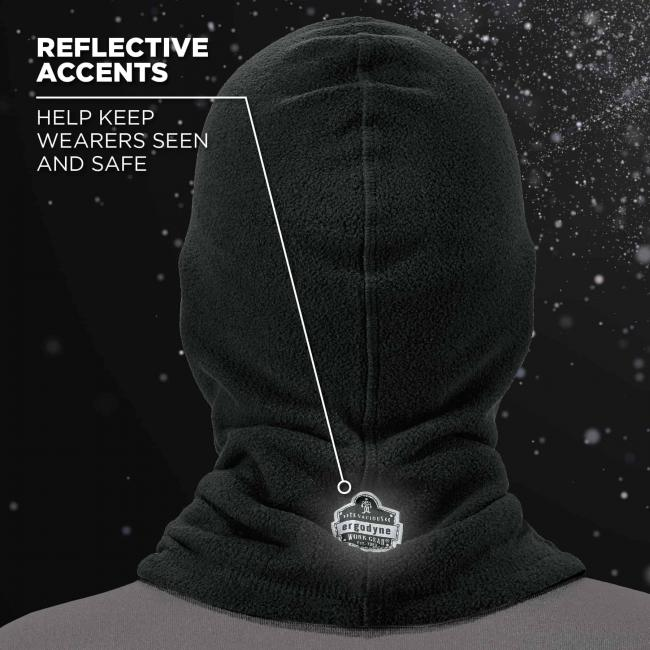 Reflective accents: help keep wearers seen and safe.