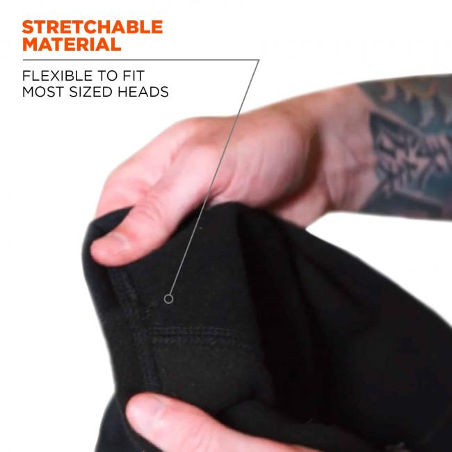 Stretchable material: flexible to fit most sized heads.