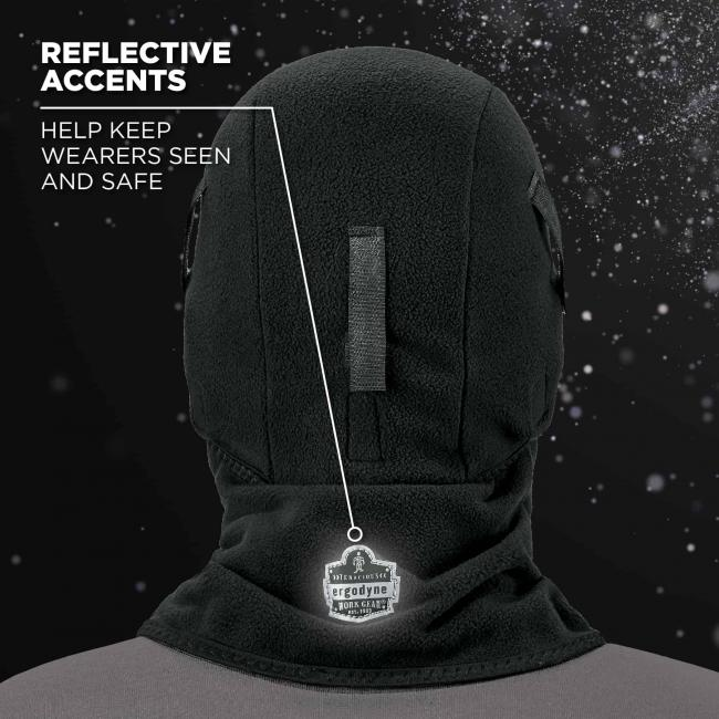 Reflective accents: help keep wearers seen and safe