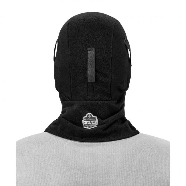 Balaclava on model facing backwards