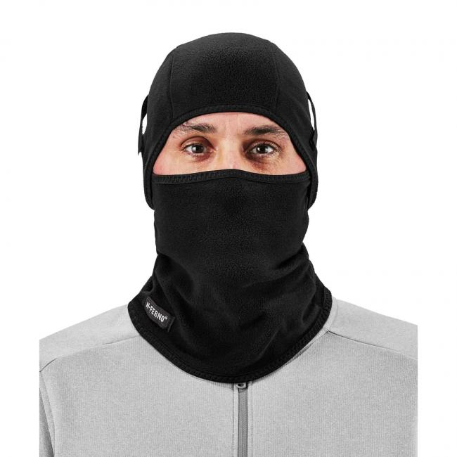 Balaclava on model facing forward