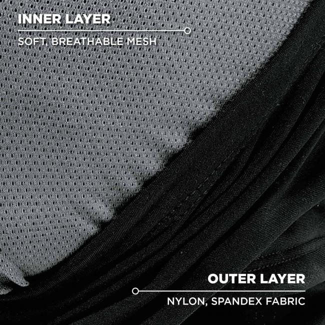 inner layer: soft breathable mesh. outer layer: nylon spandex fabric image 3