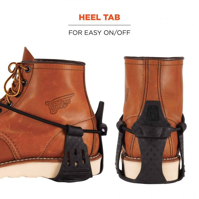 Heel tab: For easy on/off