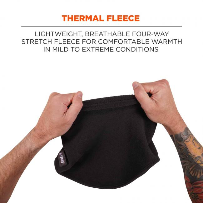 Thermal fleece: Lightweight, breathable four-way stretch fleece for comfortable warmth in mild to extreme conditions.