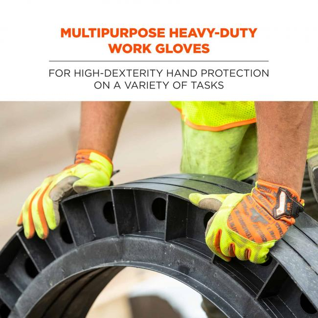 Multipurpose heavy-duty work gloves: for high-dexterity hand protection on a variety of tasks
