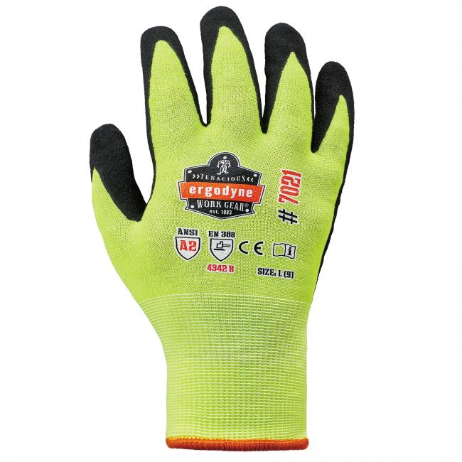 7021 S Lime Nitrile-Coated Cut-Resistant Gloves A2 Level WSX image 2
