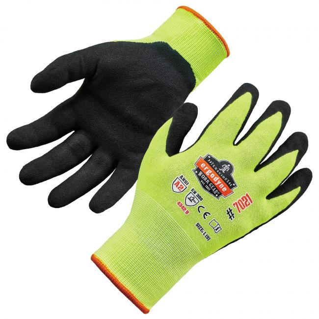 7021 S Lime Nitrile-Coated Cut-Resistant Gloves A2 Level WSX image 1