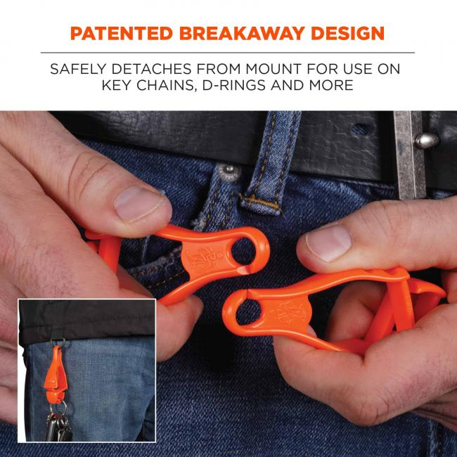 patented breakaway design: safely detaches from mount for use on key chains, d-rings and more image 5