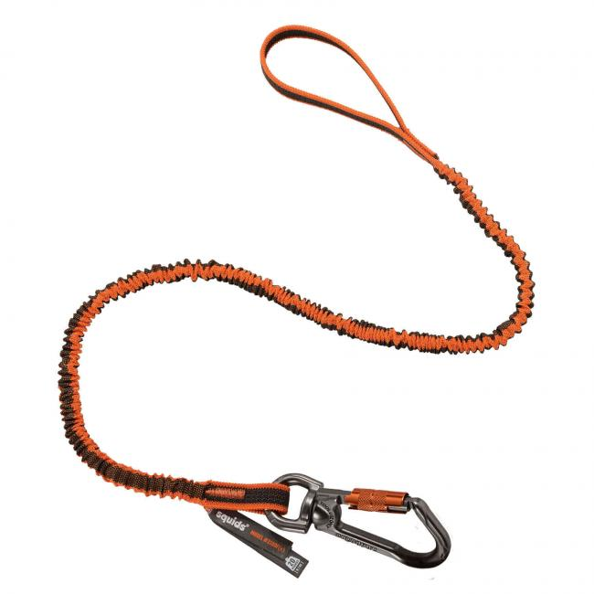 3109F(x) Standard Orange Single Triple-Locking Carabiner with Swivel-15lbs image 1