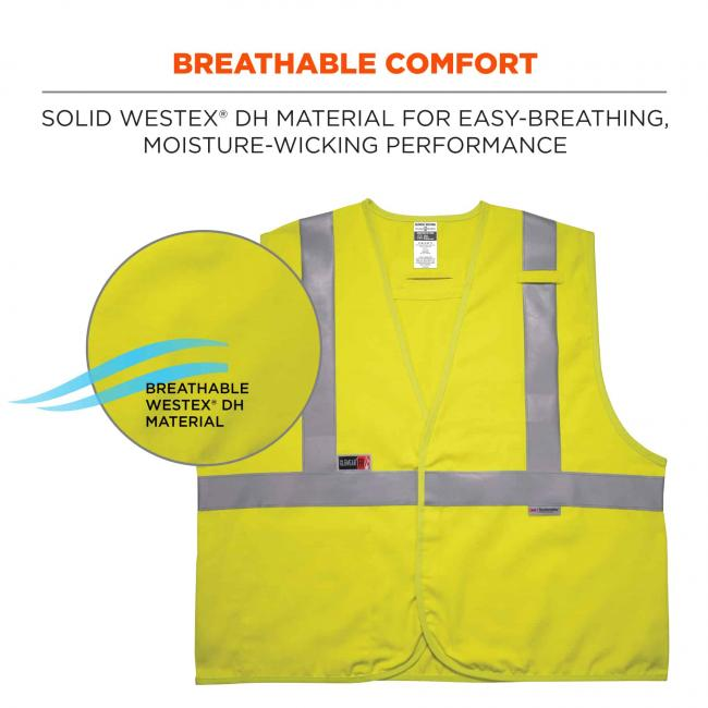 breathable comfort: solid Westex DH material for easy-breathing, moisture-wicking performance image 6