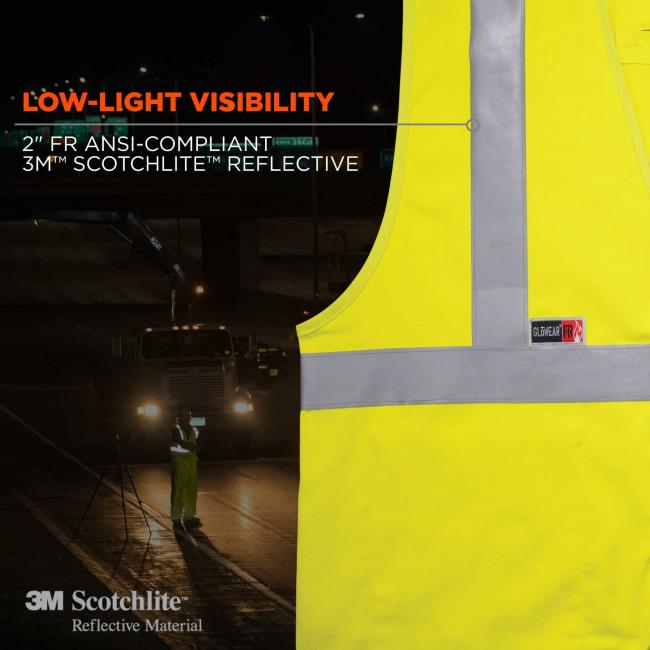 "low-light visibility: 2"" FR ansi-compliant 3M Scotchlite reflective material image 5"