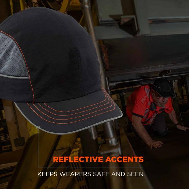 Reflective accents: keeps wearers safe and seen