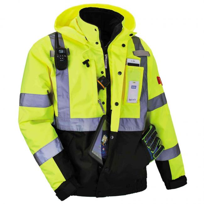 8381 S Lime Type R Class 3 Performance 3-in-1 Bomber Jacket  image 6