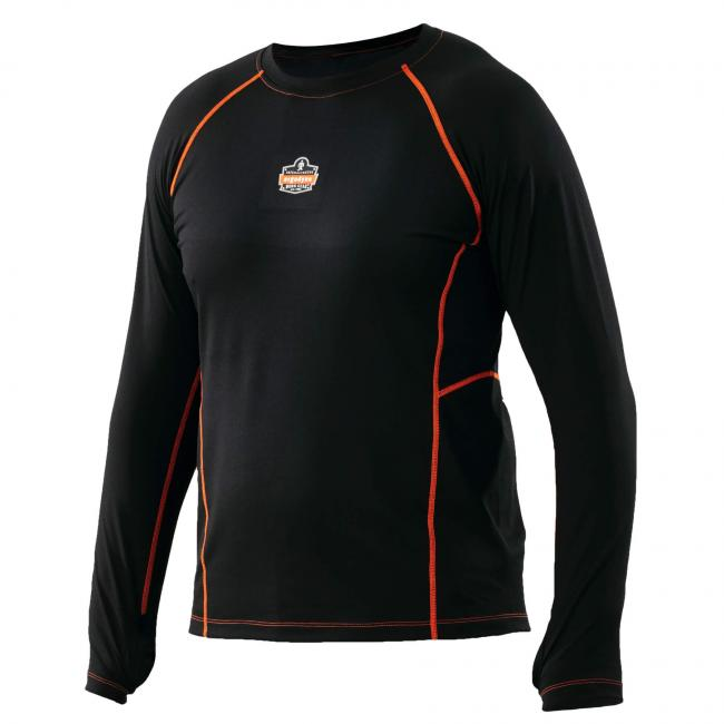 6435 M Black Base Layer Thermal Long Sleeve Work Shirts image 2