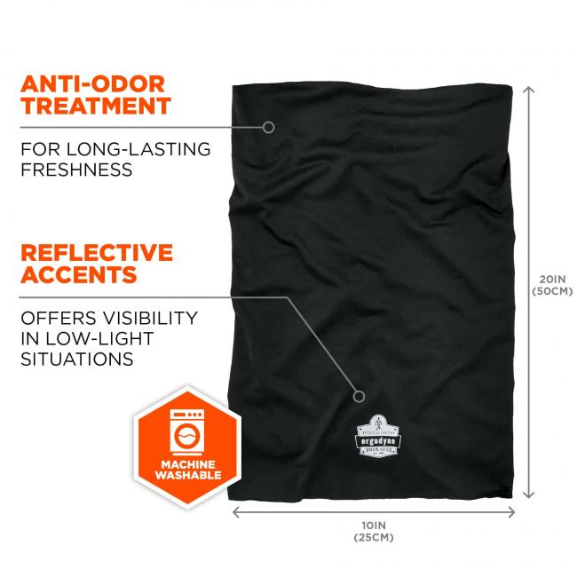 anti-odor treatment: for-long lasting freshness. reflective accents: offers visibility in low-light situations. machine washable.  image 7