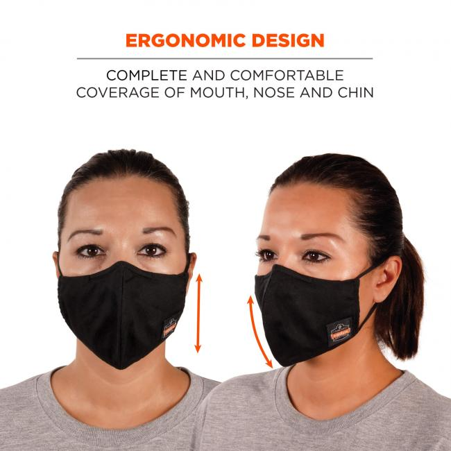Ergonomic design: complete and comfortable coverage of mouth, nose and chin.